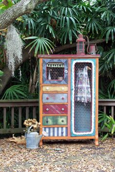 Calliope Vintage Wardrobe by junkdrawerdivas on Etsy, $1075.00. This person refinish furniture in different ways then most. I like it.