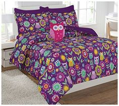 Fancy Collection 6pc Kids/teens Owl Flowers Design Luxury Bed-in-a-bag Comforter Set- Furry Buddy Included - Twin Size ** Continue to the product at the image link.