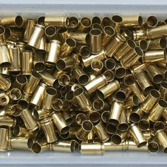 Bulk 9Mm Brass | 9mm bulk processed reloading range brass closeup