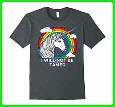 Mens LGBT Unicorn I Will Not be Tamed Gay Pride T-shirt XL Dark Heather - Fantasy sci fi shirts (*Amazon Partner-Link)