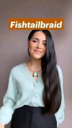 Easy Hairstyles For Long Hair, Pretty Hairstyles, Girl Hairstyles, Braided Hairstyles, Medium Hair Styles, Curly Hair Styles, Hair Color Streaks, Hair Upstyles, Aesthetic Hair