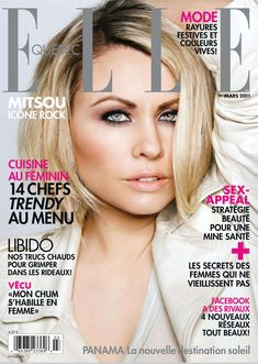 """ELLE Quebec """"Mitsou"""" Hair and Makeup by Vanessa Jarman, Photography by Regine Mahaux (Please keep credits intact) Marie Claire, Quebec, Vanity Fair, Hair Magazine, Fashion Beauty, Celebrity Style, Healthy Living, Hair Makeup, Hair Beauty"""