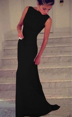 Charming Prom Dress,Black Prom Dress,Long Evening Formal Dress,Women