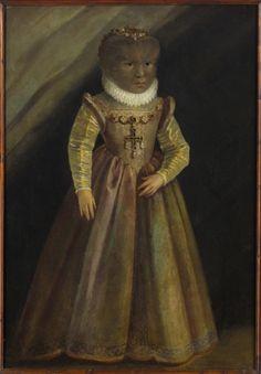 Fig. 3 - Anonyme allemand, Maddalena (Madeleine) Gonzales, v. 1580. Wien, Château d'Ambras, Kunsthistorisches Museum Wien, Gemaldegalerie