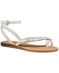 8ed5bbe83867af COACH Beach Feather Motif Sandals Shoes - Sandals   Flip Flops - Macy s