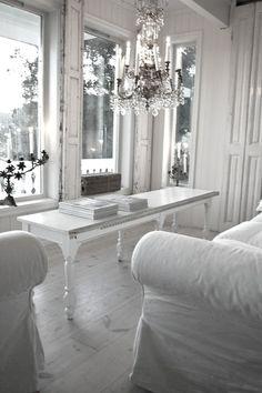 All white.  #interiors South Shore Decorating Blog #clickaway