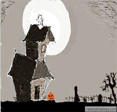 How to draw haunted houses : How to Draw Haunted Houses Step by Step Drawing Lessons
