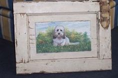 Dog painted on a shutter