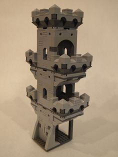 Lego Modular Castle. Here you can see an even taller tower using the bottom room module as well.