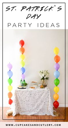 Throw an easy St. Patrick's Day party with rainbow decorations! These ideas are perfect for kids and adults!