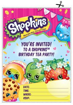 Embedded Image Permalink Shopkins 7th Birthday Party Bday Font