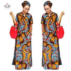 Handmade Dashiki African Ankara Long Dress with Free Head Scarf Lady Long Dress Short African Dresses, African Fashion Dresses, African Attire, African Wear, Discount Womens Clothing, Clothing Size Chart, Wedding Dress Styles, Traditional Outfits, Plus Size Outfits