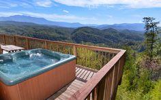 Views that just won't quit. | Featured Cabin: Crestview Lodge #greatsmokymountains #cabinsforYOU #GatlinburgCabin #PigeonForgeCabin