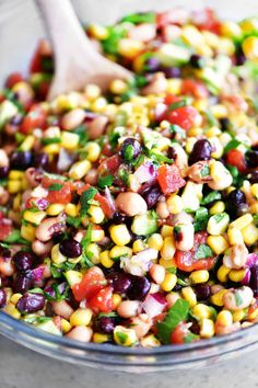 Cowboy Caviar is a healthy appetizer that is perfect for parties! Serve as salsa with tortilla chips or as a flavorful side salad with chicken and fish.