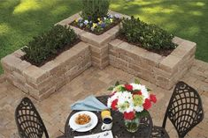 Edge the patio with these corners.perfect for low maintenance plants - Gardening For Today