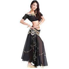 Dancewear Chiffon and Velvet Belly Dance Outfit