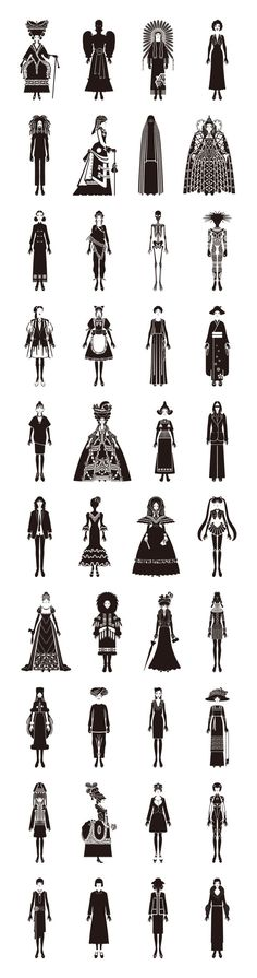 world fashion history 17. General pin Silhouette research is always important! #makeitwork #modcloth
