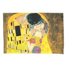 The Kiss by Gustav Klimt Pillowcase - married gifts wedding anniversary marriage party diy cyo