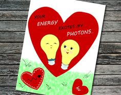 Physics valentines day cards