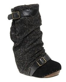 IRREGULAR CHOICE | Long lashes tweed concealed wedge boots