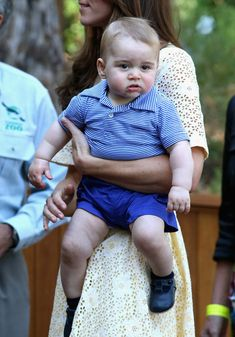 The Official Ranking Of Prince George's Best Facial Expressions: Oh it's you lot with the cameras again. When are you going to leave me alone?