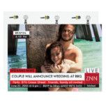 Wedding BBQ Breaking News Specialized TV Graphic Card