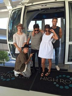 Singer Justin Bieber rides the High Roller at The LINQ Promenade in Las Vegas on June 21, 2015