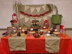 Camping theme party table