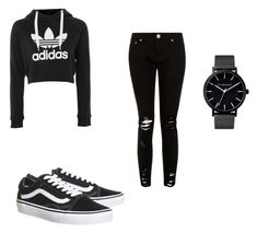 """""""Untitled #3"""" by giselle-munozz ❤ liked on Polyvore featuring adidas and Topshop"""