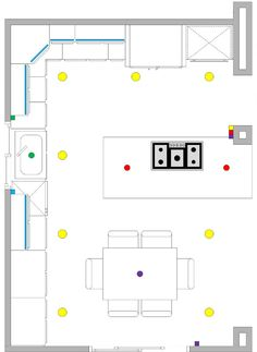 Awesome Efficient Kitchen Layout    Some Good Tips, But A Mistake Is That The Sink  And Range Should Be Switched. Description From Pinterest.com.