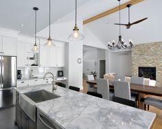 Elegant Kitchen Design Super White Granite Countertop Ideas Cabinets Wood Floor Bathroom Countertops Marble