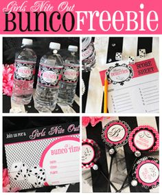 Bunco printables...FREE