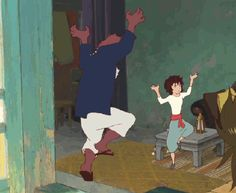 The Boy and the Beast #Kumatetsu #Kyuta #Gif