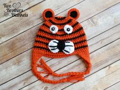 Crochet Tiger Hat Tiger Hat for Babies Kids by TwoBrothersBlankets, $18.00