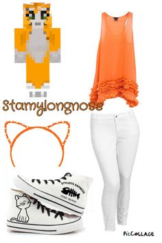 Stampylongnose outfit Minecraft Outfits, Minecraft Costumes, Minecraft Clothes, Cool Costumes, Halloween Costumes, Character Outfits, Girl Fashion, Fashion Design, Youtubers