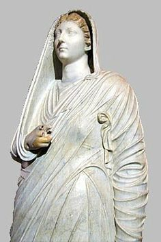 Villa of the Mysteries: Marble statue of Livia.  AD 79 eruption
