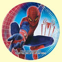 Spiderman Party Plates 23cm
