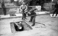 1944, France, Calvados, Des soldats allemands (Pioniere) minent un pont de la N 815 enjambant un canal | by ww2gallery