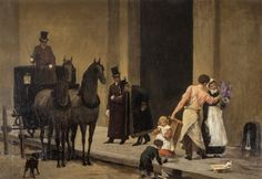 Street scene by Marie François Firmin-Girard is available at American and European Art - artnet