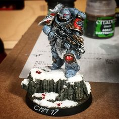 Finally something halfway done. Some more shades to do and final touch ups. Should be done by tomorrow... Space Wolves Primaris by CMM. If you're interested in a commission, don't hesitate to contact me. #custommademiniatures #paintingwarhammer #paintingforgeworld #citadel #forgeworld #gamesworkshop #Primaris #warhammer40k #warhammer40000 #warhammer30k #fortheemperor #painting #miniaturepainting #spacemarines #spacemarine #spacewolves #horusheresy #modelpainting #commissionpainting…