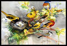 Spring Birds Doormat