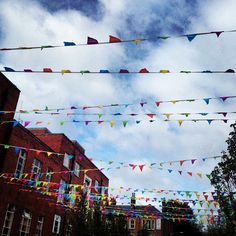 London 2012 bunting on campus