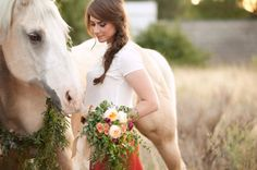 Equestrian Style Shoot// Horse Wreath // Mix Bouquet, see more bouquets Horse Wedding Photos, Bridal Pictures, Wedding Shoot, Engagement Pictures, Engagement Shoots, Wedding Pictures, Bridal Pics, Bridal Session, Bridal Shoot