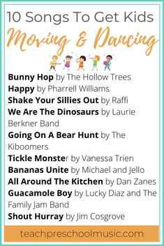Playlist: 10 Songs To Get Preschoolers Moving And Dancing