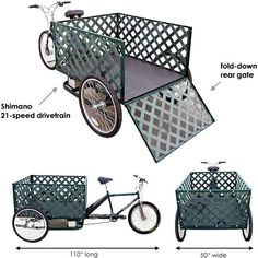 Main Street Pedicabs™ | The Pedal Pickup™ - Schematic Features