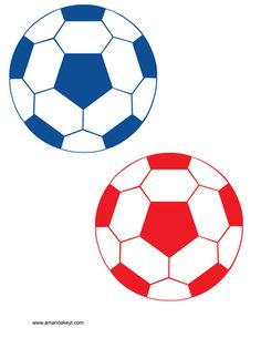 Balls from Soccer Blue Red Printable Photo Booth Prop Set Soccer Baby, Soccer Theme, Soccer Birthday, Printable Designs, Printables, Messi Y Ronaldinho, Diy Photo Booth Props, Photobooth Props Printable, Locker Decorations