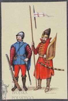 Piechur i husarz z okresu bitwy pod Orszą, 1514