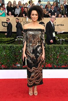 Nathalie Emmanuel - Every Best Dressed Look from the 2017 SAG Awards  - Photos