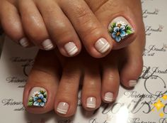 Pretty Toe Nails, Cute Toe Nails, Aycrlic Nails, Feet Nails, Cute Acrylic Nails, Pretty Toes, Cute Nail Art Designs, Pedicure Designs, Pedicure Nail Art