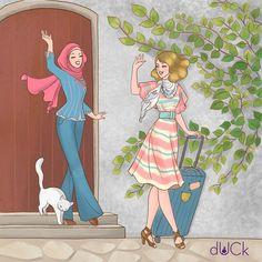dUCk scarves @duckscarves Instagram photos | Websta Animated Cartoons, Art Dolls, Hijab Cartoon, Illustration, Hard Drawings, Art, Cute Illustration, Pop Art, Cartoon Art